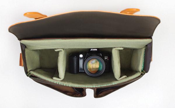 Leather Dslr Shoulder Camera Bag 109
